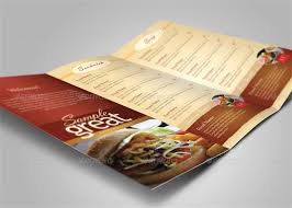 takeout menu template design templates tri fold take out menu wedding picturesque