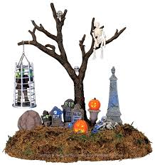 lemax 44106 caged monster spooky town table accent animated