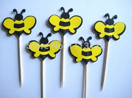 bumble bee party favors cheap bumble bees party picks cupcake toppers toothpicks food
