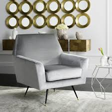 Grey And Yellow Chair Fox6270b Accent Chairs Furniture By Safavieh