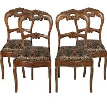 Duncan Phyfe Rose Back Chairs by Antique Victorian Rose Carved And Grain Painted Side Chairs Ebth