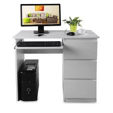 acheter ordinateur bureau table d ordinateur bureau secrétaire travail 90x 50 x 76cm blanc
