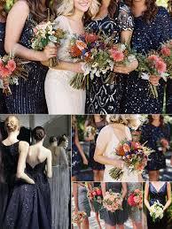 blue sequin bridesmaid dress winter wedding color trend navy sequins in weddings navy