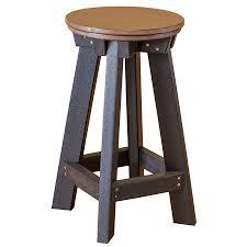 amish made poly heritage patio bar stool