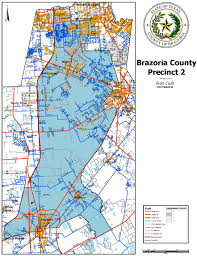 Texas County Map With Cities Precinct 2 Map Brazoria County Tx