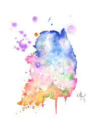 Watercolor Map Of The World by South Korea Map Print Of Watercolor Illustration Map