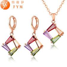 rose gold wedding set amethyst online get cheap beautiful gold jewelry set aliexpress com