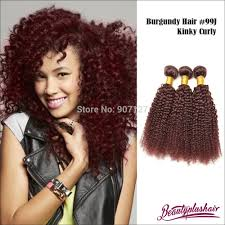 Pure Virgin Hair Extensions by 6a Red Brazilian Remy Hair 99j Curly Hair Extensions 3 Pcs