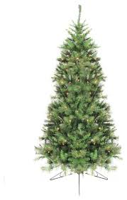 6 5 pre lit pine artificial half wall tree