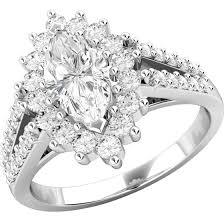 inel diamant inel cocktail inel de logodna cu diamante dama aur alb 18kt cu un