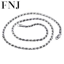 chains necklace images 2 3mm rope chain 925 sterling silver necklace men 100 s925 solid jpg