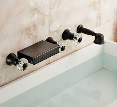 best quality 5pcs waterfall bathroom tub faucet wall mount 5 holes