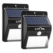 wireless security lights outdoor litom 8 led solar lights garden wireless security light outdoor