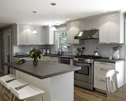 Grey Kitchens Cabinets White Cabinets With Grey Countertops Intended Decorating Ideas