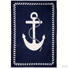 Nautical Bathroom Rugs Jonathan Adler Anchor Rug Navy Blue And White Nautical