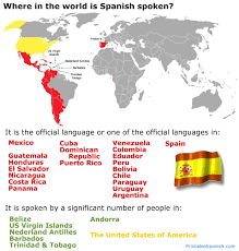 spanish speaking countries u2013 printable spanish
