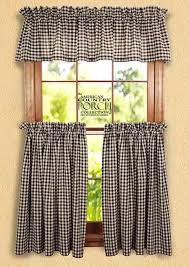 Country Porch Curtains Navy Check Curtain Valances
