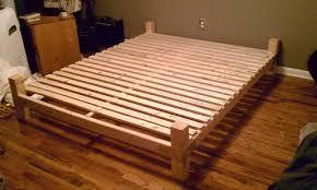 Platform Bed With Floating Nightstands Diy Platform Bed Frame Genwitch