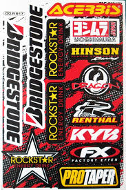 motocross bike sticker mtb bmx helmet rockstar energy graphic kits