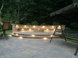 Outdoor Walkway Lights by Landscape Lights Under Cap Lights On Raised Paver Patio