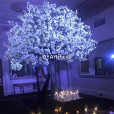 280cm white artificial cherry half trees dongyi