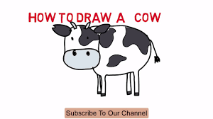 cow how to draw a cow cartoon easy sketch drawing video demo