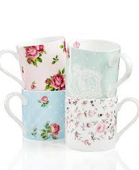 royal albert dinnerware set of 4 country roses mugs