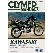 clymer repair manual m474 3 kawasaki klr650 1987 2007