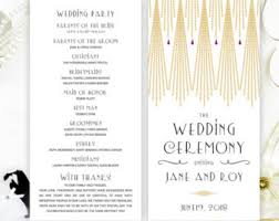 Personalized Wedding Programs Printed Wedding Programs Royal Blue Wedding Programs