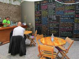 the backyard las vecinas eco bar is a great place for eat organic