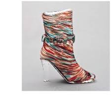 glass shoe multi coloured pattern