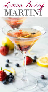 martini limoncello lemon berry martini house of yumm