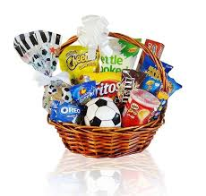 football gift baskets football fever with favourite snacks and treats for