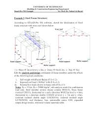 steel frame structure analysis and design by staad pro example 4