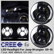 round led lights for jeep 7inch 60w round led daymaker headl kit with high low beam for
