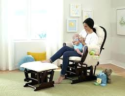 Glider And Ottoman Set For Nursery Cherry Wood Glider Glider Ottoman Set Baby Nursery Furniture Chair