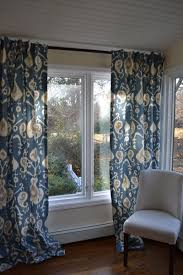 Long Window Curtains by Navy Ikat Curtains Ikat Room Ikat Stencil Drapes Navy Blue