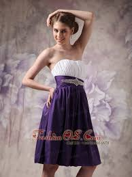 cheap white and purple short prom dress sweetheart knee length 98 02