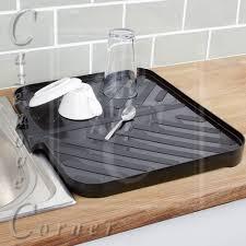 kitchen sink drain motor black worktop drainer tray sink draining board caravan kitchen