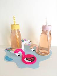 assiette porte verre diy les dessous de verre façon bouées en perles hama