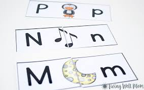 uppercase lowercase letter matching puzzle for preschoolers free