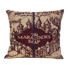 Harry Potter Marauders Map Marauder U0027s Map Woven Pillow Harrypottershop Com