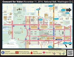 Map Washington Mall by Traffic Closures For Veterans Day Concert On The National Mall Wtop