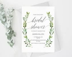 Wedding Shower Invites Rustic Bridal Shower Etsy