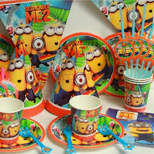 party supplies cheap online cheap christmas kids birthday party decoration minions
