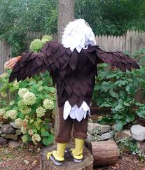 here is what you will need to make a no sew bald eagle costume
