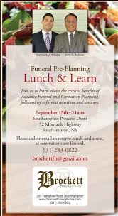 funeral pre planning news events brockett funeral home proudly serving southton