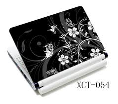 white black flowers butterfly 15 6 ultrabook laptop skin
