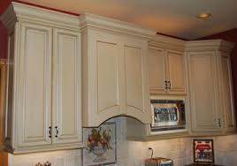 Microwave Inside Cabinet Custom Range Hoods Decorative Painting By Artisan Interiors