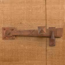 rustic hand forged iron gate rim latch hardware